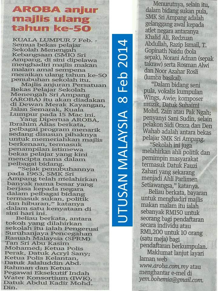 utusan malaysia mmm 8 jan 2014