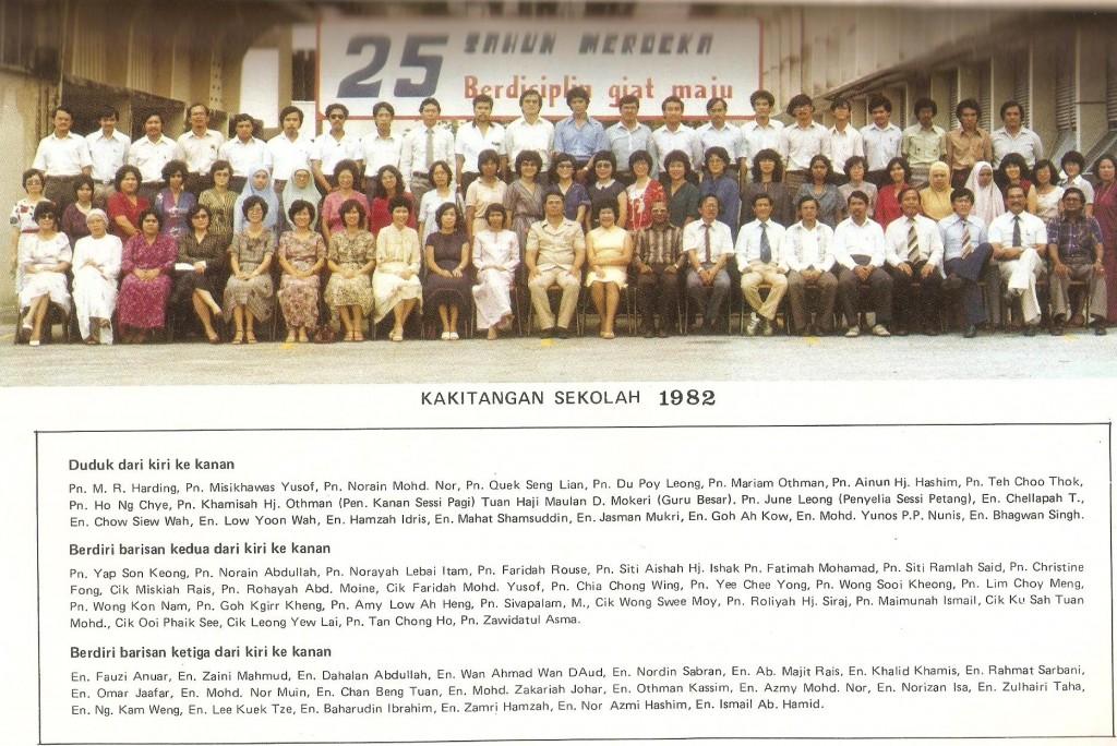 kakitangan sekolah 1982