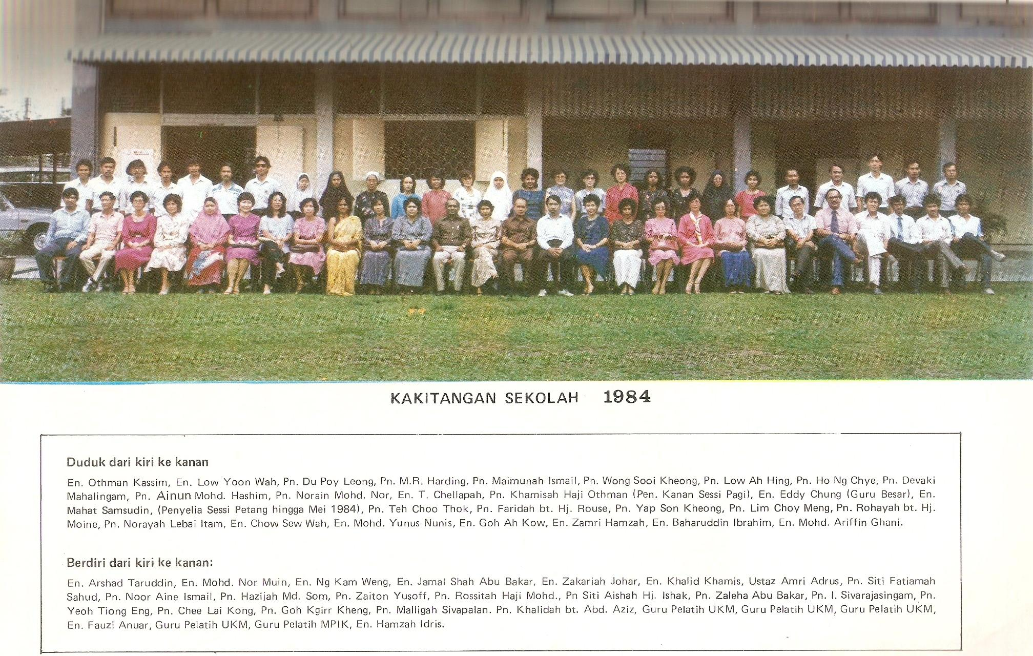kakitangan sekolah 1984