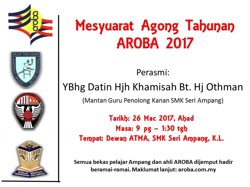2017 AGM AROBA