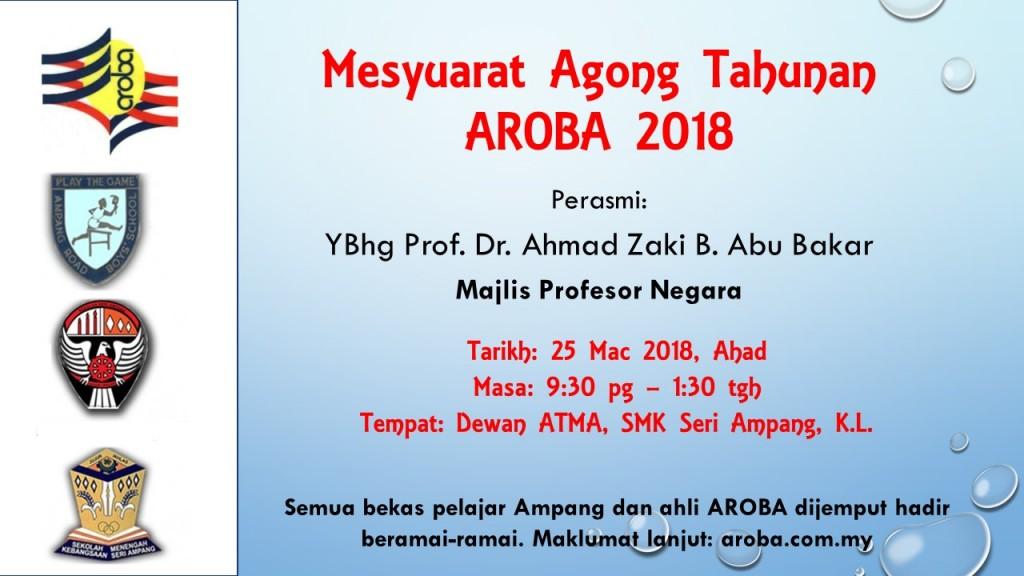 2018 AGM AROBA