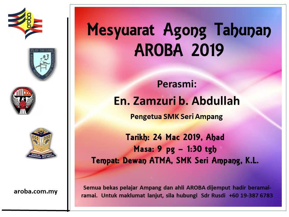 agm aroba 2019