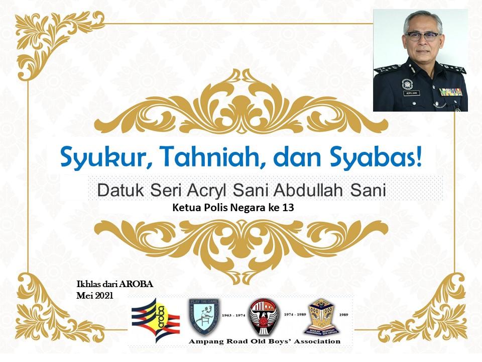 Tahniah DS Acryl Sani